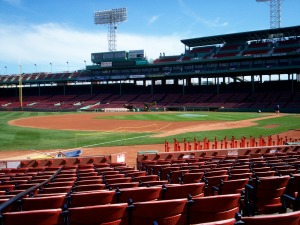 Fenway stands, early April 2005